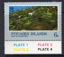 Pitcairn QEII 1981 Landscapes 6c Value, Wmk. Crown To Right Of CA, MNH, SG 211w - Stamps