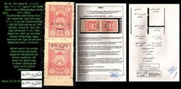 EARLY OTTOMAN SPECIALIZED FOR SPECIALIST, SEE...Mi. Nr. 752 - Mayo 112 B + CB - Nur 249 Marken - Attest -RRR- - 1920-21 Anatolie