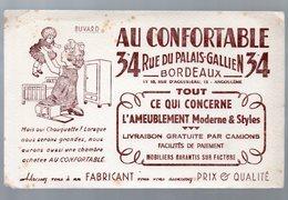 Bordeaux (33 Gironde) Buvard Meubles AU CONFORTABLE (PPP10485) - Buvards, Protège-cahiers Illustrés