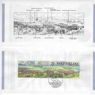 België O.B.C Postfolder 1990    2369     Nr 10  -  1990     Waterloo - Cartes-lettres