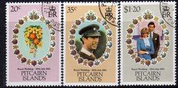 Pitcairn QEII 1981 Royal Wedding Set Of 3, Used, SG 219/21 - Stamps