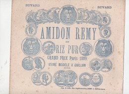 Gaillon (27 Eure)  Buvard (de Grande Taille, Probablement Fin XIXe)  AMIDON REMY  (CAT 1357) - Buvards, Protège-cahiers Illustrés