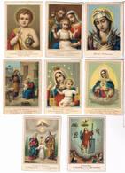 8 Devotieprentjes - Imágenes Religiosas