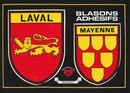 CPSM 53 LAVAL BLASON ADHESIF - Laval
