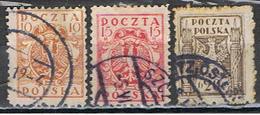 (POL 80) POLSKA // YVERT 186, 187, 188 // 1919 - ....-1919 Gobierno Provisional