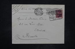 BELGIQUE - Cachet D'Etapes Sur Enveloppe Pour Bruxelles En 1915 - L 26696 - [OC26/37] Staging Zone