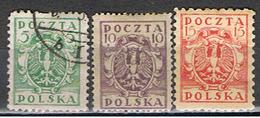(POL 77) POLSKA // YVERT 160, 161, 162 // 1919 - ....-1919 Gobierno Provisional