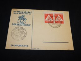 Germany Soviet 1948 Dresden Tag Der Briefmarke Cover__(L-25525) - Sovjetzone