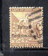 XP5019 - BECHUANALAND 1886  Yvert N. 4  Usato - Bechuanaland (...-1966)