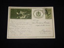 Hungary 1938 Miskolc 10f Green Stationery Card__(L-28705) - Postal Stationery