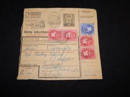 Hungary 1946 Balatonszepezd Parcel Card__(L-28691) - Brieven En Documenten
