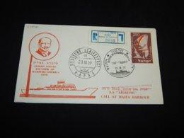 Israel 1959 Haifa Schiffspost TS Ariadne Cover__(L-27896) - Israel