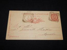 Italy 1891 Rosburgo 10c Red Stationery Card To Aquila__(L-26262) - 1878-00 Umberto I