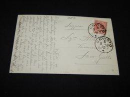 Italy 1910 Orvieto Postcard To Switzerland__(L-26302) - 1900-44 Victor Emmanuel III.