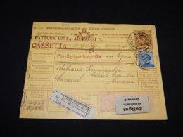 Italy 1913 Milano Parcel Card To Romania__(L-26576) - 1900-44 Vittorio Emanuele III