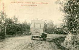 CASTELNAU MAGNOAC  =  Société Auto Transport = En Route La RENCONTREl     607 - Frankrijk