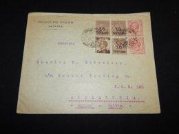 Italy 1924 Catania Cover To Egypt__(L-26609) - 1900-44 Vittorio Emanuele III