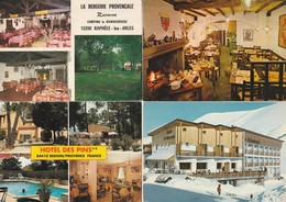 12 Cartes---hotels Et Restaurants De France - Postkaarten