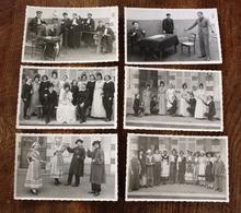 6 Photo Carte Dentelée - Fête Des école De Toucy 1939 Yonne Pièce De Théatre - Toucy