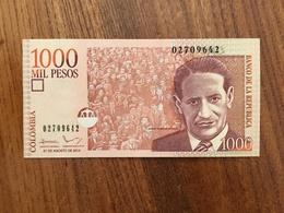 COLOMBIA 1000 Pesos - P 456 - 27 De Agosto De 2014 - Small Format - UNC - Colombia