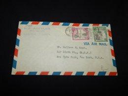 Jamaica 1957 Kingston Air Mail Cover To USA__(L-24297) - Jamaica (...-1961)