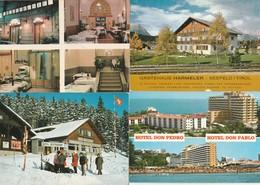 12 Cartes---hotels Et Restaurants Pays Etrangers - Postkaarten