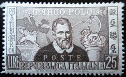 1954 ITALIE YT 678, 683 .Portrait Of Marco Polo /  Portrait Of Marco Polo. NEUFS TRACES CARNIERES - 1946-60: Neufs