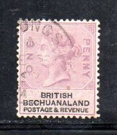 XP5024 - BECHUANALAND 1887  Yvert N. 11  Usato - 1885-1895 Colonia Britannica