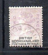XP5025 - BECHUANALAND 1887  Yvert N. 12  Usato - 1885-1895 Colonia Britannica