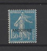 ANDORRE.  YT N°13  Neuf *  1931 - Andorre Français