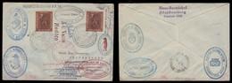GERMANY - XX. 1961 (31 June). Nuremberg - Antartica. Lovely Multifkd Well Travelled Env. Signed Via Orcadas - Argentina. - Germany
