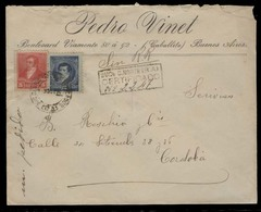 ARGENTINA. 1894 (3 Oct). Caballito / Bs As / Sucursal Ciudad Norte. Cordoba. Reg Fkd Env / Mixed Issues. VF. - Argentinien