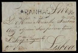 BRAZIL. 1803 (8 Jan). Maranham - Portugal. EL Full Text (small Cover Part Gone Not Affecting Text Of Pmks) Stline. Maran - Brésil
