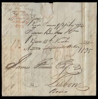 BRAZIL. 1824 (21 Aug). RJ - Portugal. EL Full Contains Carried Via Falmouth Where Fwded (6 Nov) By W. Broag & Sons + Ova - Brazil
