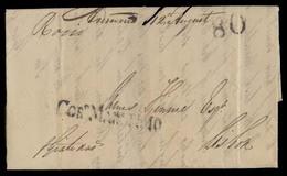 BRAZIL. 1826 (19 Aug). Pernambuco - Portugal. EL Full Text Stline Corº Maritimo (xx) Small Letters Size Type + 80rs + Pe - Brésil