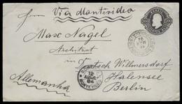 Brazil -Stationary. 1894 (16 March). Parana/ South Brazil - Germany (11 May). Via Uruguay (12 April). And Paranagua (17 - Brasil