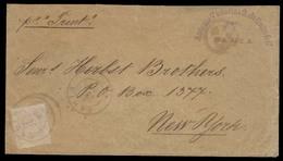 BRAZIL. 1888 (20 Jul). Bahia - USA. Fkd Env 200rs Lilac Cancel. Per Trent. Fine. - Brazil