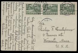SWEDEN. 1935. Goteborg - USA / Worcester. Fkd P Card. VF. - Sweden