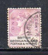 XP5028 - BECHUANALAND 1887  Yvert N. 11  Usato - 1885-1895 Colonia Britannica