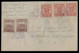 KOREA. 1949 (29 March). Seoul - USA. Fkd Env. VF. - Corea (...-1945)