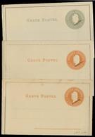 Argentina - Stationery. C.1898. 3c Orange (2) + 4c Grey Mint Stat Lettersheets. Muestra / Specimen. One With Views. Fine - Argentine