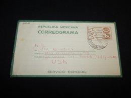 Mexico 1978 3$ Aerogram To USA__(L-24975) - Mexico