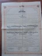 EMPIRE OTTOMAN, 1913 - VILLE DE CONSTANTINOPLE, EMPRUNT 5% 1913 - OBLIGATION 500 FRS - Actions & Titres