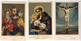 3 Devotieprentjes - Imágenes Religiosas