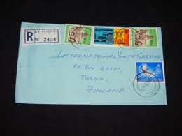 South Africa 1973 Athlone Registered Cover To Finland__(L-28251) - South Africa (1961-...)