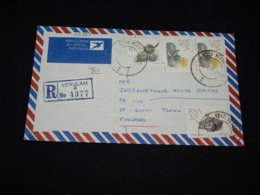 South Africa 1990 Verulam Registered Cover To Finland__(L-28289) - South Africa (1961-...)