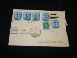Spain 1939 Madrid Part Of Air Mail Cover__(L-25406) - Luchtpost