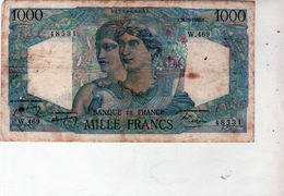 Billet De 1000 Francs Minerve Et Hercule - Le 26-8-1948 En T T B - - 1871-1952 Antichi Franchi Circolanti Nel XX Secolo