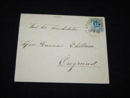 Sweden 1883 Bergsbrunn Cover To Öregrund__(L-24204) - Schweden