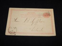 Sweden 1891 10ö Red Aus Schweden Cancellation Stationery Card__(L-27094) - Ganzsachen